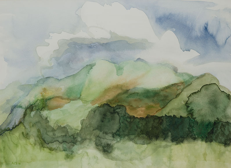 Ethiopian landscape (1998) - Watercolour on paper - 45x62 cm