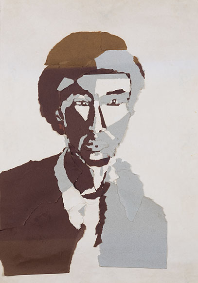 Ethiopian man (1999) - Paper on paper - 61x42 cm