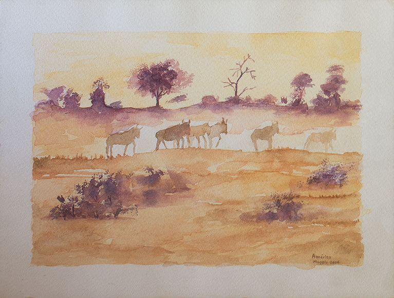 African landscape (2006) - Watercolour on paper - 18x24 cm