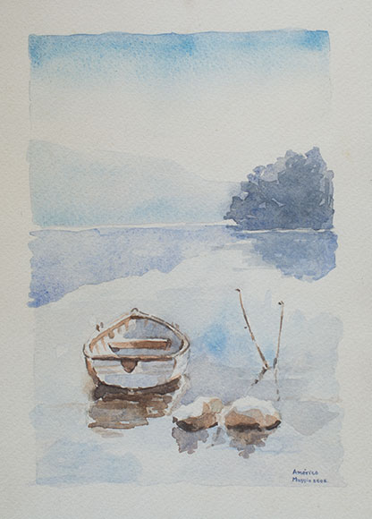 The lake (2006) - Watercolour on paper - 24x18 cm
