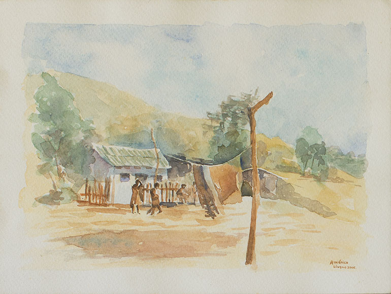 Rural scene in Brazil (2006) - Watercolour on paper - 18x24 cm