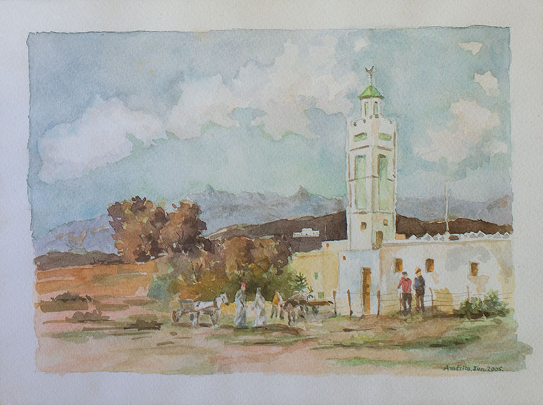 Mosque (2006) - Watercolour on paper - 18x24 cm