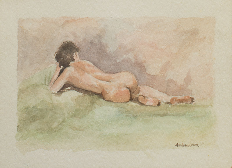 Female nude (2007) - Watercolour on paper - 18x24 cm