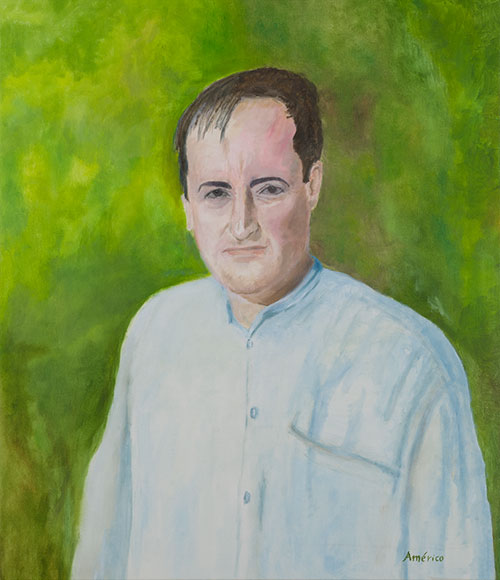 Portrait of a man (2014) - Oil on canvas - 60x52 cm