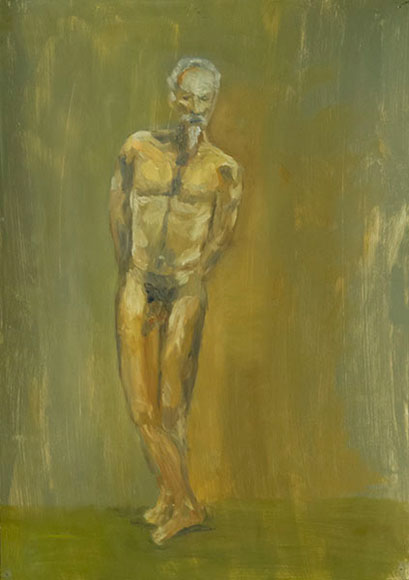 Male nude (2015) - Oil on paper - 80x56 cm