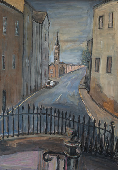 Edinburgh Street Scene  (2016)Oil on paper - 84x59 cm