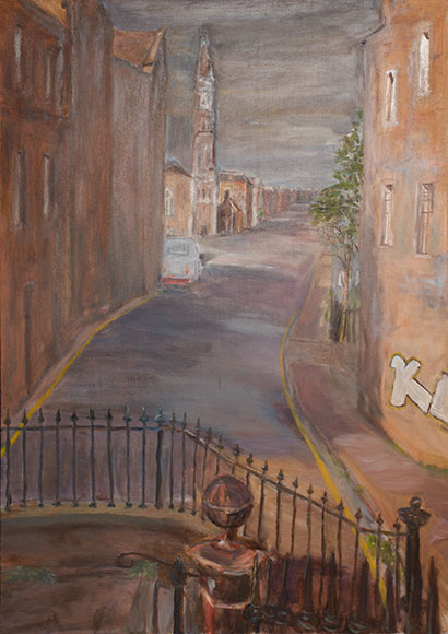 Edinburgh Street Scene (2016)Oil on wood - 85x60 cm