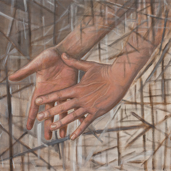 Hands (2016) - Oil on canvas - 40x40 cm