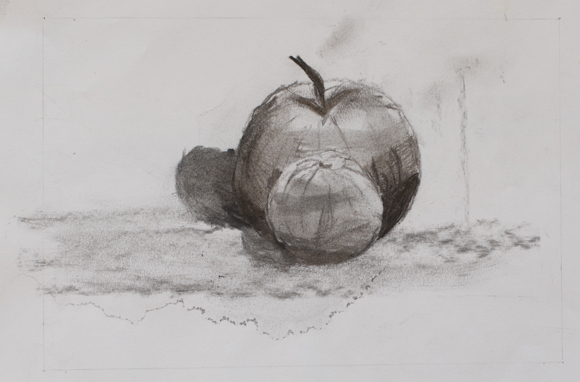 Tommaso Presazzi (11 years old) - Charcoal on paper