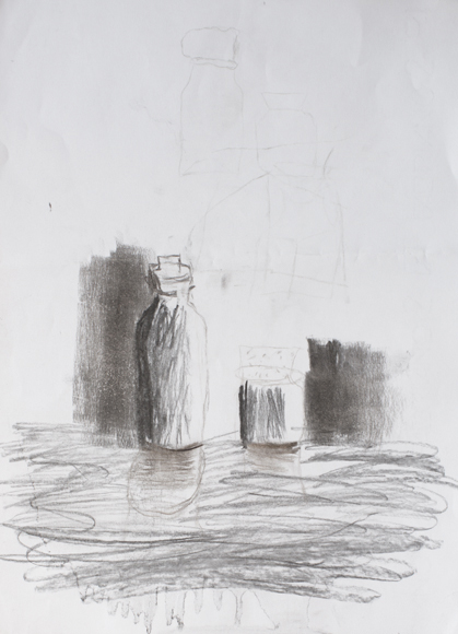 Martino Bevilacqua (7 year old) - Charcoal on paper