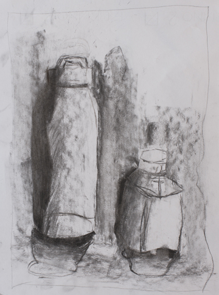 Tommaso Presazzi (11 year old) - Charcoal on paper