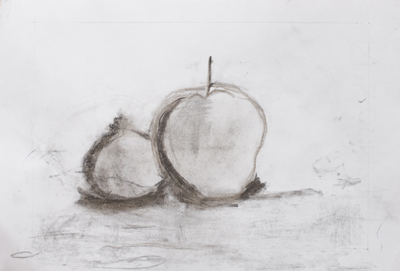 Matilde Cacciatore (7 year old) - Charcoal on paper